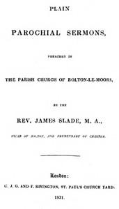 Plain Parochial Sermons, preached in the Parish Church of Bolton-le-Moors