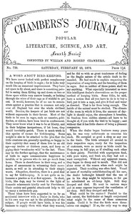Cover of Chambers's Journal of Popular Literature, Science, and Art, No. 739, February 23, 1878