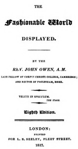 Cover of The Fashionable World Displayed