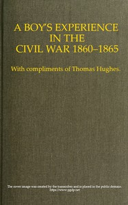 Cover of A Boy's Experience in the Civil War, 1860-1865