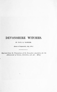 Cover of Devonshire Witches