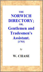 Cover of The Norwich Directory; or, Gentlemen and Tradesmen's Assistant [1783]