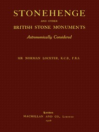 Cover of Stonehenge and Other British Stone Monuments Astronomically Considered