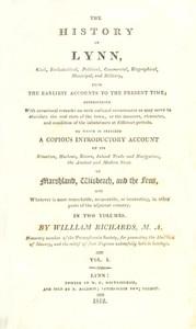 The History of Lynn, Vol. 1 [of 2]