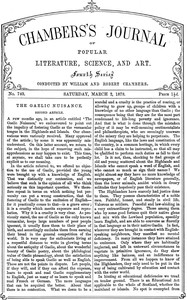 Cover of Chambers's Journal of Popular Literature, Science, and Art, No. 740, March 2, 1878