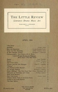 Cover of The Little Review, April 1914 (Vol. 1, No. 2)