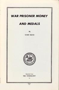 Cover of War Prisoner Money and Medals