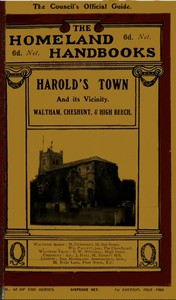 Cover of Harold's Town and Its Vicinity Waltham Abbey, Waltham Cross, Cheshunt, and High Beech, Epping Forest