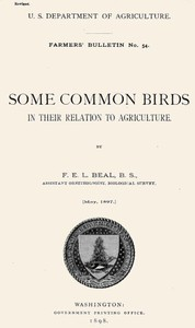 Cover of Some Common Birds in Their Relation to Agriculture