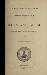Cover of Ducks and Geese: Standard Breeds and Management