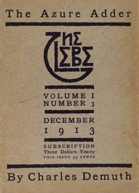 Cover of The Glebe 1913/12 (Vol. 1, No. 3): The Azure Adder