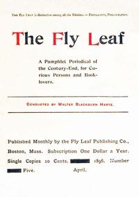 The Fly Leaf, No. 5, Vol. 1, April 1896