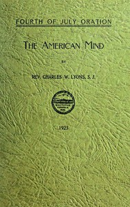 Oration: The American Mind