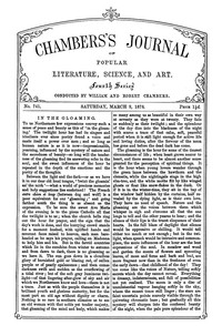 Cover of Chambers's Journal of Popular Literature, Science, and Art, No. 741, March 9, 1878