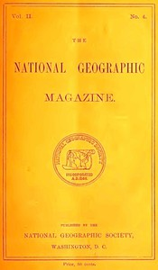 Cover of The National Geographic Magazine, Vol. II., No. 4, August, 1890