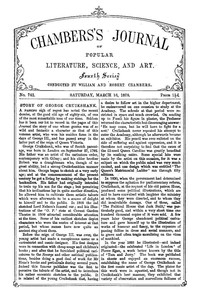 Chambers's Journal of Popular Literature, Science, and Art, No. 742, March 16, 1878