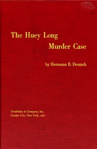 Cover of The Huey Long Murder Case