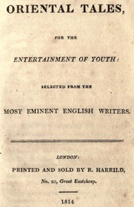 Oriental tales, for the entertainment of youthSelected from the most eminent English writers