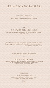 Cover of Pharmacologia Fourth American, from the Seventh London Edition