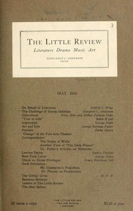 Cover of The Little Review, May 1914 (Vol. 1., No. 3)