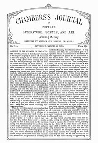 Cover of Chambers's Journal of Popular Literature, Science, and Art, No. 744, March 30, 1878