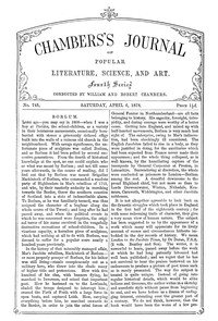 Cover of Chambers's Journal of Popular Literature, Science, and Art, No. 745, April 6, 1878