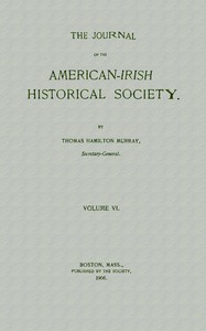 Cover of The Journal of the American-Irish Historical Society (Vol. VI)