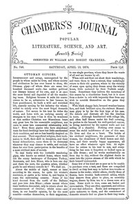 Chambers's Journal of Popular Literature, Science, and Art, No. 746, April 13, 1878