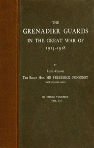 Cover of The Grenadier Guards in the Great War of 1914-1918, Vol. 3 of 3
