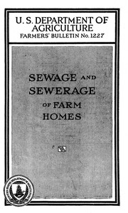 Cover of Sewage and sewerage of farm homes [1928]