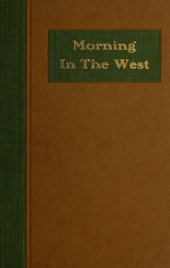 Cover of Morning in the West: A Book of Verse