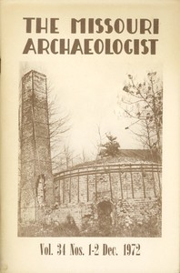 Cover of The Missouri Archaeologist, Volume 34, No. 1 and 2, December 1972