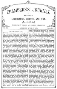 Chambers's Journal of Popular Literature, Science, and Art, No. 747, April 20, 1878