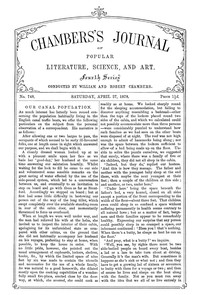 Cover of Chambers's Journal of Popular Literature, Science, and Art, No. 748, April 27, 1878
