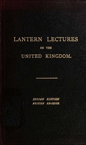 Seven Lectures on the United Kingdom for use in IndiaReissued for use in the United Kingdom