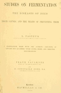 Cover of Studies on Fermentation The diseases of beer, their causes, and the means of preventing them