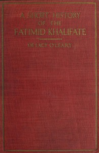 Cover of A Short History of the Fatimid Khalifate