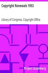 Cover of Copyright Renewals 1953