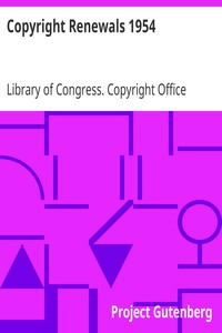 Cover of Copyright Renewals 1954