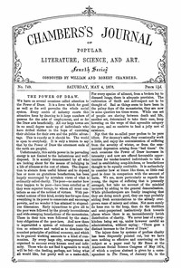 Cover of Chambers's Journal of Popular Literature, Science, and Art, No. 749, May 4, 1878