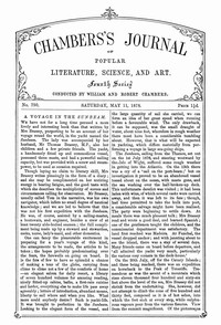 Chambers's Journal of Popular Literature, Science, and Art, No. 750, May 11, 1878