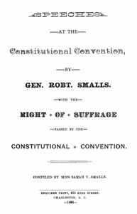 Cover of Speeches at the Constitutional ConventionWith the Right of Suffrage Passed by the Constitutional Convention