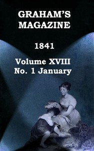 Cover of Graham's Magazine, Vol. XVIII, No. 1, January 1841