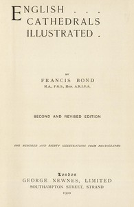 Cover of English Cathedrals IllustratedSecond and Revised Edition
