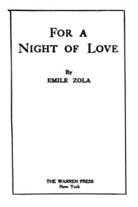 Cover of For a Night of Love