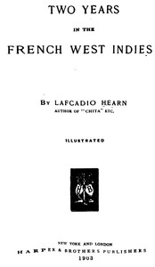 Cover of Two Years in the French West Indies
