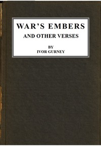 War's Embers, and Other Verses