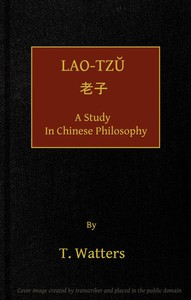 Lao-tzu, A Study in Chinese Philosophy