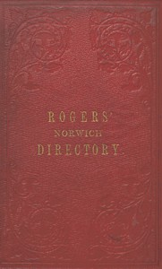 Cover of Rogers' Directory of Norwich and Neighbourhood