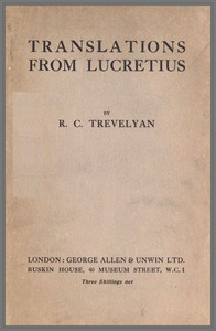 Cover of Translations from Lucretius